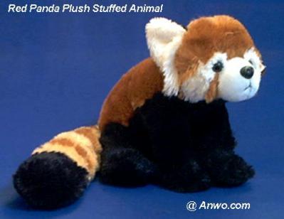 red panda plush stuffed animal cuddlekins
