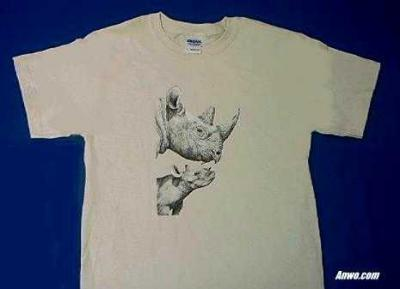 rhino t shirt adult and youth sizes