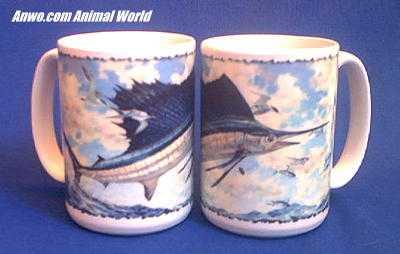 sailfish mug porcelain