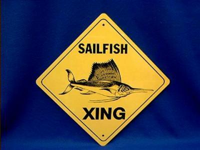sailfish crossing sign