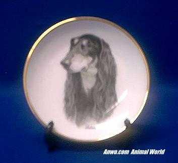 saluki plate porcelain