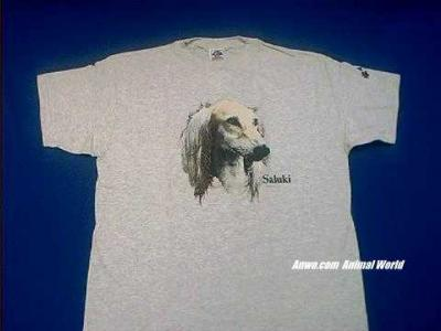 saluki t shirt ash