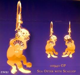 sea otter earrings