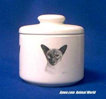 siamese cat jar porcelain