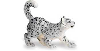 snow leopard cub toy miniature replica