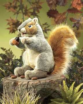 squirrel puppet gray folkmanis