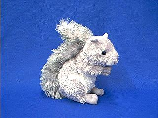grey squirrel stuffed plush