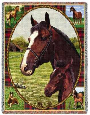 thoroughbred horse blanket throw tapestry
