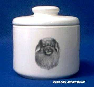 tibetan spaniel jar porcelain