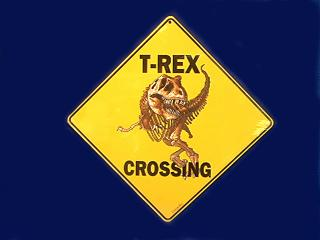 t rex crossing sign