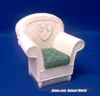 white chair figurine stone critters