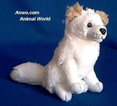 white fox plush stuffed animal