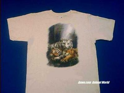 white red tiger t shirt pair