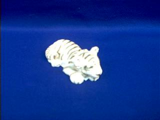 white tiger figurine