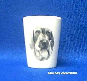 wire haired dachshund shot glass