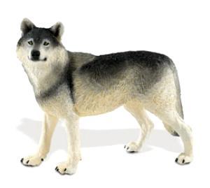 wolf toy figurine miniature safari wildlife wonders