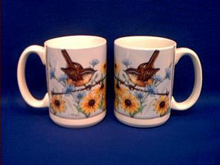 wren picture mug