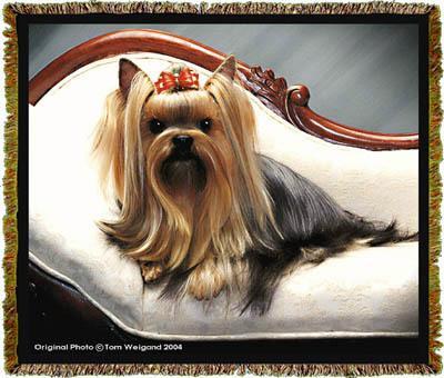 yorkshire terrier blanket throw tapestry afghan