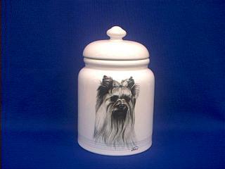 yorkshire terrier cookie jar