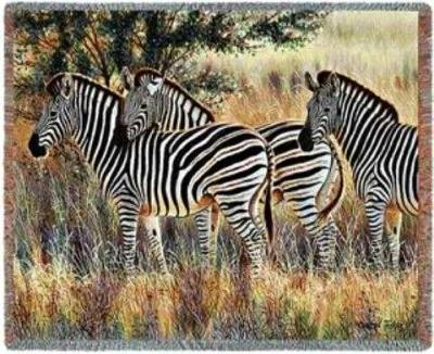 zebra blanket throw tapestry zebras
