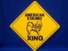 American Eskimo Crossing Sign