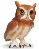 Eastern Screech Owl Toy Replica Miniature
