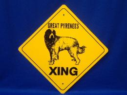 Great Pyrenees Crossing Sign