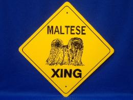 Maltese Crossing Sign