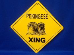 Pekingese Crossing Sign
