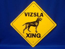 Vizsla Crossing Sign