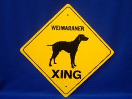 Weimaraner Crossing Sign