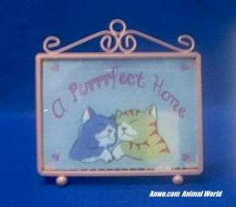 a purrfect home cat sign
