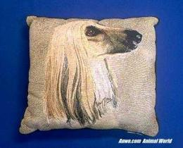 afghan dog pillow throw
