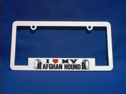 afghan hound license frame