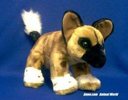 african wild dog plush stuffed animal toy