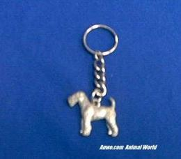 airedale keychain pewter body