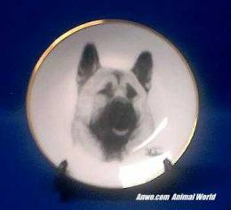 akita plate porcelain
