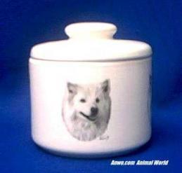 american eskimo spitz jar porcelain