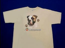 american bulldog t shirt by Animal World