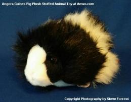 angora guinea pig plush stuffed animal black white