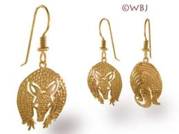 armadillo earrings gold jewelry