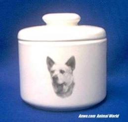 australian cattle dog jar porcelain