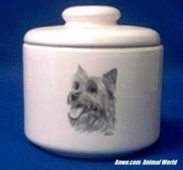 australian terrier jar porcelain
