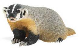 badger toy miniature replica safari