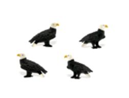 bald eagle mini toy good luck miniature