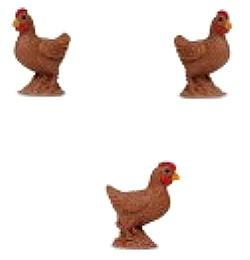 bantam hen chicken toy mini good luck miniature