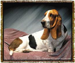basset hound blanket throw tapestry