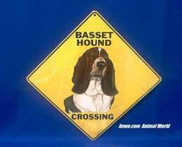basset hound crossing sign