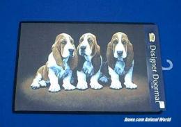 basset hound doormat welcome mat