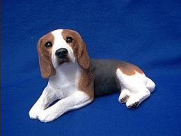 beagle figurine sandicast